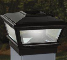 4x4 Deckorators VersaCap Solar Post Cap Light - Black (Deckorators 141770)