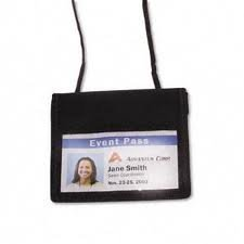 @The Office Horizontal Id Neck Pouch 3'' X 4''