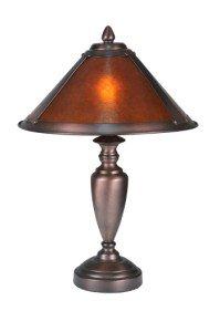 """Meyda Home Indoor Bedroom Decorative 17""""H Van Erp Amber Mica Accent Lamp"""
