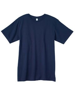 Mens T-shirt 2010 Organic - Anvil Adult Anvilsustainable Tee (Navy) (3X)