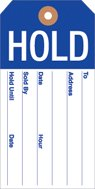 Large Red Tag Sign - HLD800 Hold Tags Reinforced Blue and White 2 3/8