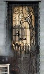 Chom Halloween Spooky Lighted Lace Curtain Panel