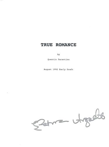 Patricia Arquette Signed Autographed TRUE ROMANCE Full Movie Script COA