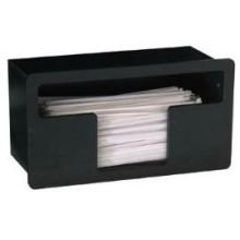 Dispense Rite Black Polystyrene Built-in Straw Organizer, 6 1/4 x 11 5/8 x 5 1/2 inch -- 2 per case. by Dispense Rite