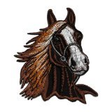 Brown Horse Racehorse DIY Applique Embroidered Sew Iron on Patch HOR-002
