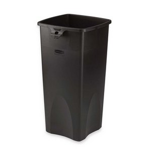 RCP356988BLA - Rubbermaid Untouchable Waste Container, Square, Plastic, 23 Gal, Black ()