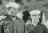 Filmed at Great Lakes Naval Training Station… with 70,000 of Uncle Sam's fighting Bluejackets…and a ship-shapely WAVE who makes the boys behave! ()