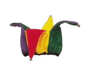 Jacobson Hat Company Colorful Felt Jester Hat,Multi-Colored,One Size ()
