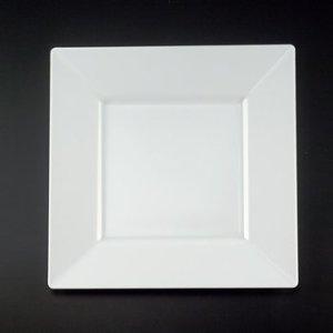 10 3 4 White Plastic Square Plastic Dinner Plates 20ct D
