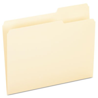 File Folders, 1/3 Cut, Third Position, Top Tab, Letter, Manila, 100/Box, Sold as 100 Each