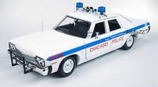 1974 Dodge Monaco Chicago Department Police Car 1/18 by Autoworld AMM987 by ()