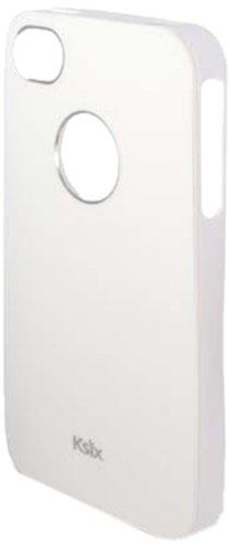 KSIX B0917FTP14 Solid TPU Case für Apple iPhone 4S weiß