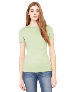 Bella + Canvas Womens Stretch Rib Short-Sleeve T-Shirt (1001)- DEEP HEATHER,M