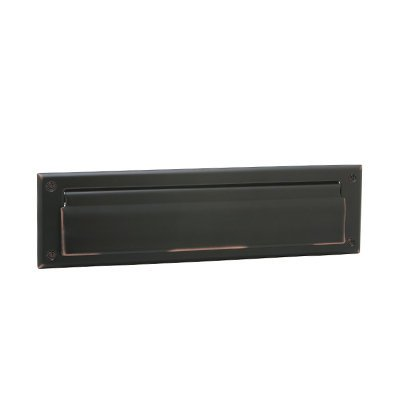 Schlage Sc620b-716 Mail Slot W/magazine Open Back Plate, Solid Brass, Aged Bronze - Magazine Mail Slot
