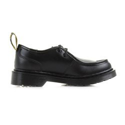Dr. Martens Kid's Hambleton Moc Toe Casual Oxford Shoes, Black Leather, 10 Toddler M UK, 11 M