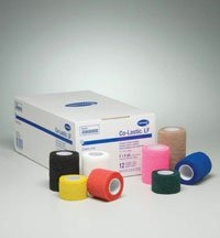 8290022 PT# 45110000 Bandage Co-Lastic LF 1-1/2''x5yd Assorted Colors Roll 48/Ca Made by Hartmann USA