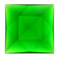 Stained Glass Jewels - 50mm Square Faceted - Green By Stallings Stained Glass