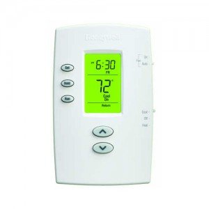 Honeywell TH2110DV1008 PRO 2000 Vertical Programmable Thermostat 1H/1C, Backlit, Dual Powered-