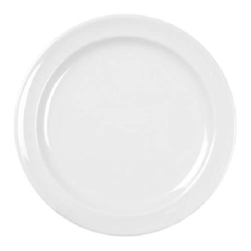Excellanté Milan Melamine White Collection 9-Inch Round Dinner Plate, White, -
