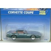 Mattel Hot Wheels 1996 1:64 Scale Green Flake Chevy Corvette Coupe Die Cast Car Collector #499