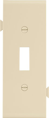 Eaton STC1V Polycarbonate 1-Gang Toggle Sectional Mid Size Center Wall Plate, (Sectional Center)