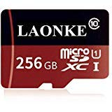 LAONKE 256GB Micro SD Memory Card High Speed Class 10 Micro SD SDXC Card with SD Adapter