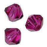 40 BICONE 4mm Swarovski FUCHSIA #5328 Crystal Beads