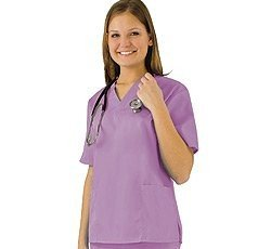Women's Scrub Set - Medical Scrub Top and Pant, Lilac, ()
