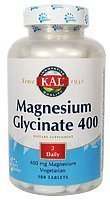 KAL - Magnesium Glycinate 400, 180 tablets by (Bio Vegetarian 180 Tabs)