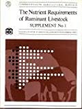 The Nutrient Requirements of Ruminant Livestock Supplement, Agricultural Research Council Staff, 0851985289