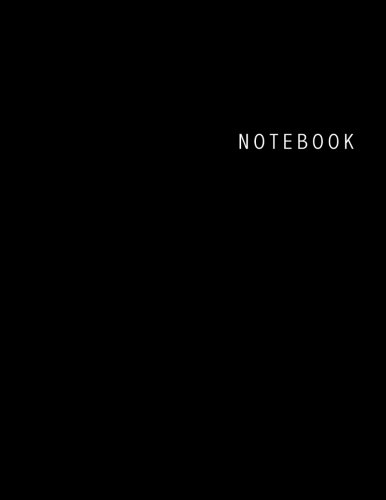 (Notebook: Unlined Notebook - Large (8.5 x 11 inches) -  100 Pages - Black)