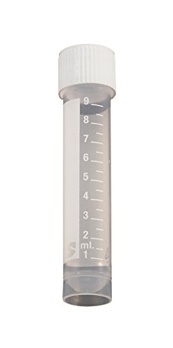 Simport Cryovial T310-10A Polypropylene Vial with Silicone Washer Seal and External Threads, Self Standing, 10ml Volume (Case of 1000) by Simport