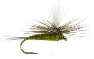Feeder Creek Fly Fishing Trout Flies - Blue Wing Olive Parachute Dry Fly Set - One Dozen Flies - 4 Size Assortment 12,14,16,18 (3 of Each Size)