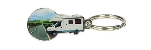 21p8jMUXGQL happyROSS Einkaufswagenlöser Camper   Schlüsselanhänger mit abziehbarem Einkaufswagenchip   Einkaufschip für…