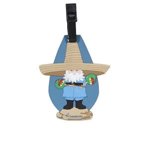 Travelocity Sombrero Roaming Gnome Luggage Tag