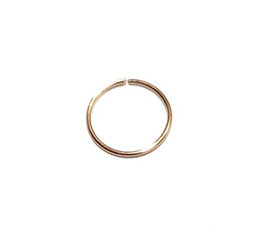 (Nose Hoop Nose Ring Cartilage 14k Rose Gold Filled 24g to 18g 6mm 7mm 8mm 9mm 10mm)