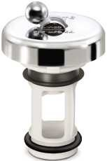 PPP GIDDS-124050 Flip-It Fit-All Bathroom Stopper, Chrome - 124050