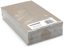 Grafix Bulk Buy Medium Weight Chipboard Sheets 4 inch x 6 inch Natural 25 Pack CB4625 (3-Pack)