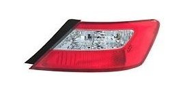Tail Light 2 Door Coupe (09 10 11 Honda Civic 2 Door Coupe Only Passenger Taillight Taillamp)