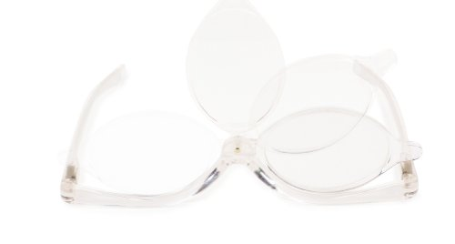 Kikkerland Magnifying Flip Lens Makeup Glasses]()