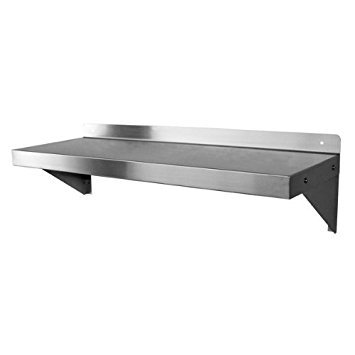 48 Inch Stainless Steel Wall Mount - DuraSteel Stainless Steel Wall Mount Shelf 48
