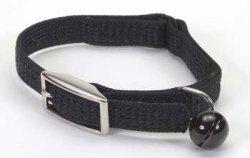 Coastal Pet Sassy Snag-Proof Nylon Cat Safety Collar (Black, 10 Inch L x 3/8 Inch W)