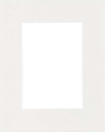 Pack of 50 11x14 Light Gray Picture Mats Mattes with White Core Bevel Cut for 8x10 Photo by Golden State Art