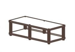 Synergy Twin10 Series 2-Shelf Tv And Audio/Video Stand W/ Cherry Wood Base And Top, Black Shelves And Satin Aluminum Tubes ()