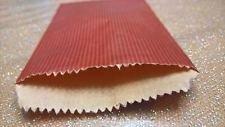 Dalbags - Confezione da Pz 50 Sacchetti di Carta Sealing Avana a Righe Colorata Rosso Formato 8x12 Dalbags srl