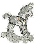 """Authentic Swarovski Crystal Figurine: 2-7/8"""" Rocking Horse - Collectible No.183270 (Retired) Made in Austria"""