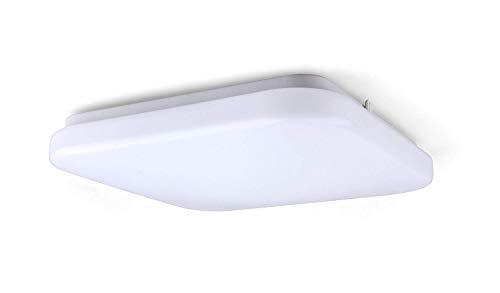 Yeuloum 12 inch LED Square Flush Mount Ceiling Light Fixture, Dimmable, 1540 Lumen, 22.5W Repalce 150W, ETL/ES Rated ()