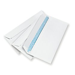 Office Depot Clean Seal(TM) Security Envelopes, 10 (4 1/8in. x 9 1/2in.), White, Box Of 500, 12015 by Office Depot