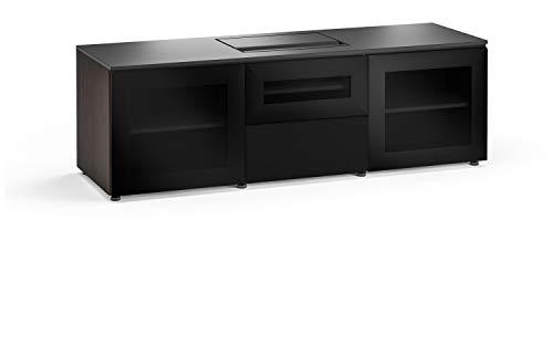 (Salamander Chameleon Oslo 236 Cabinet for Integrated Dell S718QL Projector - Black Glass UST Projector Integrated Cabinet with Speaker Integration)