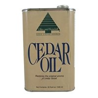 Cedar Oil 32oz 100% natural oil of aromatic Eastern Redcedar Wood by Giles & Kendall